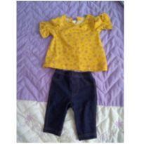 Conjunto Calça e Blusa Carters - 0 a 3 meses - Carters - Sem etiqueta