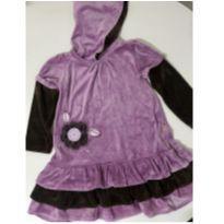 Vestido Veludo Lilas - 3 anos - Kookabu