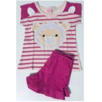 8001 - Pijama Rosa Ovelha - 1 ano - Kid Stok