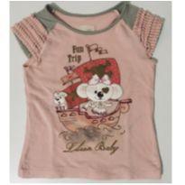 1015 - Camiseta Rosa Lilica - 12 a 18 meses - Lilica Ripilica e Lilica Ripilica Baby