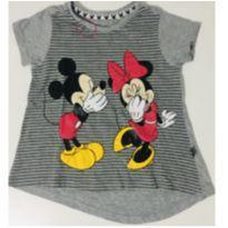 1010 - Camiseta Cinza Minnie e Mickey - 1 ano - Disney