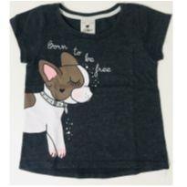 1022 - Camiseta Cinza Cachorro - 2 anos - Poim e Poim, Cherokee e Up Baby