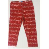 2115 - Calça legging vermelha flores - 2 anos - Nini e Bambini e Bambini