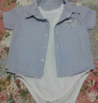 Body camisa gg - 6 meses - Baby Classic
