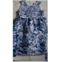 Vestido floral azul passeio - 8 anos - Momi