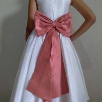Vestido daminha branco alfaiataria - 6 anos - vestido de festa
