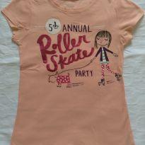 Camiseta salmão Oshikoshi - 6 anos - OshKosh