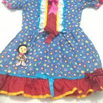 Vestido festa junina caipirinha Tam. 08 à 10. - 10 anos - Não informada