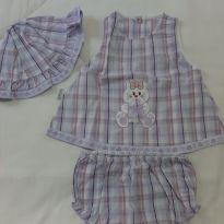 Vestido lilás - 0 a 3 meses - Fofinho