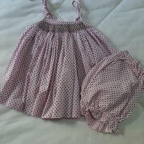 Vestido poa Rosa - 3 meses - Beija flor