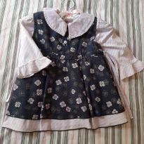 Vestido com camisa - 6 meses - Mini Vida