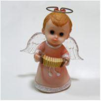 Anjinho rosa com sanfona -  - Não informada
