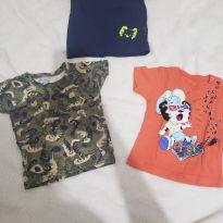 Camisetas bebê - 6 a 9 meses - Tigor Baby