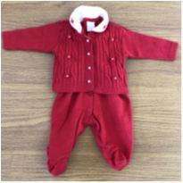 Macacão Manga Curta + Casaco Milly Baby - 3 a 6 meses - Milly Baby