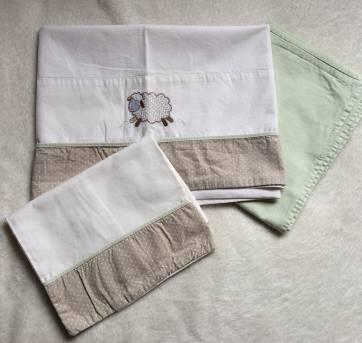 Conjunto de lençol para carrinho (3 peças) - Sem faixa etaria - Não informada