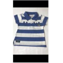Camiseta Polo listrado Tip Top - 6 a 9 meses - Tip Top