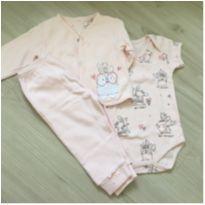 Conjunto 3 peças - 3 a 6 meses - Alô bebê