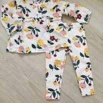 Conjunto Floral Carter's - 9 meses - Carter`s
