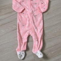 Macacão em fleece Carter's - 9 meses - Carter`s e sem etiqueta