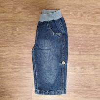 Calça jeans que vira bermuda - 9 a 12 meses - Puc Baby