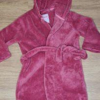Roupão rosa com capuz - CL - 18 a 24 meses - ZY Baby