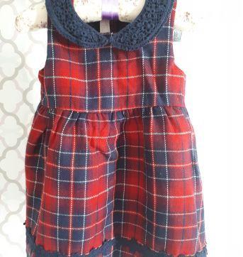 Vestido Xadrez Chicco - 1 ano - Chicco