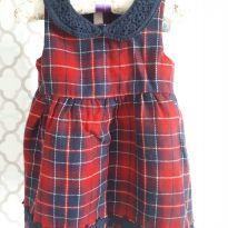 Vestido Xadrez Chicco - Maravilhoso!! - 1 ano - Chicco