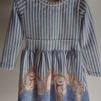 Vestido ursinha Maravilhoso - 3 anos - Kiki Xodó