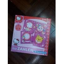 Jogo de números 1 a 12 - Hello Kitty - Produto importado - Idade 3 a 5 anos -  - Não informada