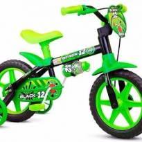 Bicicletinha Bicicleta Infantil Menina Aro 12 Flower Nathor - Sem faixa etaria - Não informada