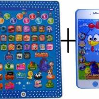 Tablet Infantil Educativo + Celular 3d Galinha Pintadinha -  - Não informada