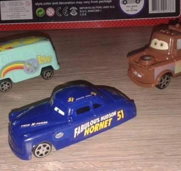 8 Carrinhos De Brinquedo Filme Carros Relâmpago Mcqueen Cars - Sem faixa etaria - Não informada