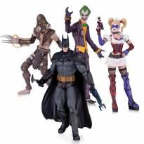 Batman Arkham Asylum Box 4 Figuras - Batman Coringa Harley Quinn Scarecrow DC Co -  - Não informada