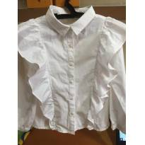 Camisa com babados - Zara - Tamanho 4 - 4 anos - Zara