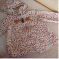 Jaqueta da Zara em tecido floral com capuz. ml 33 - 3 a 6 meses - Zara Baby
