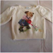 Blusao de lazinha da Ralf Lauren com desenho de uma ursinha - ml 42. - 6 meses - Ralph Lauren