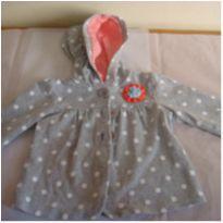 jaqueta cinza com bolinhas brancas / capuz - carters ml 48 - 9 meses - Carter`s