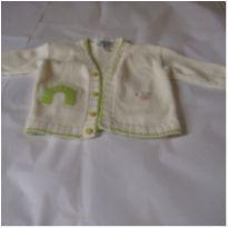 Conjunto em em tricot para o bebe. 3 peças. SAM 02 - 0 a 3 meses - Não informada