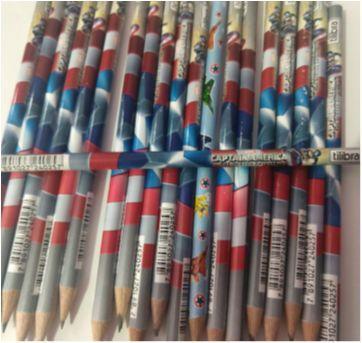 Lote de lápis grafite Capitão América - Sem faixa etaria - Tilibra