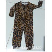 macacao malha onça - 3 a 6 meses - Up Baby