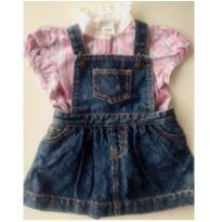 Jardineira Jeans e Camisa Ralph Lauren. NOVO! - 6 meses - Ralph Lauren