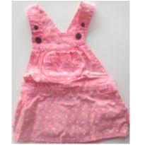 Jardineira rosa muito fofa! - 3 a 6 meses - Baby Club