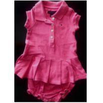 Vestido Pink Tommy - 3 a 6 meses - Tommy Hilfiger