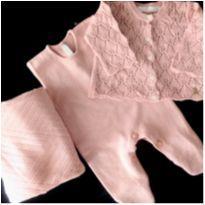 Saída Maternidade Rosé 3 PCs Paola Da Vinci - 0 a 3 meses - Paola Da Vinci