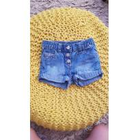 Shortinho jeans Chicco - 3 a 6 meses - Chicco