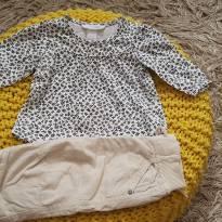 Conjuntinho calça e blusinha manga longa - 3 a 6 meses - H&M