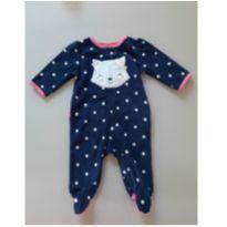 Macacão Fleece Gatinha - 0 a 3 meses - Child of Mine