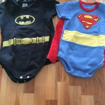 Kit body Super Bebê - 6 a 9 meses - Variadas