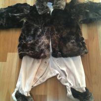Macacao com casaco de pelo - 3 meses - Beth Bebê