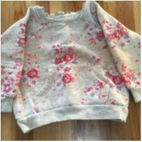 Blusa moletom floral - 6 a 9 meses - Teddy Boom